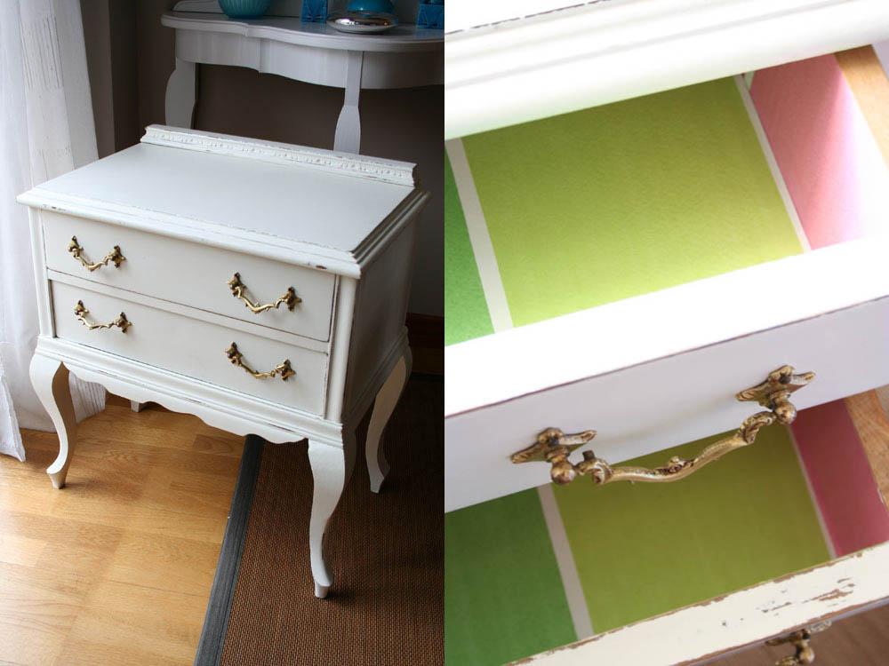 forrar objetos papel pintado un toque de color dentro de las gabetas with forrar armario con papel pintado